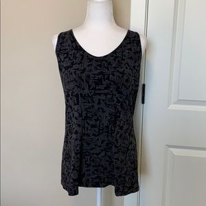 Lucy grey and black printed tank top.